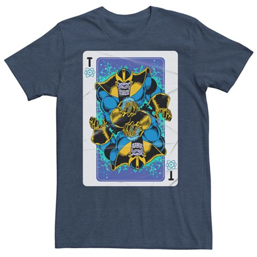 Men's Marvel Comics Thanos Playing Card Tee