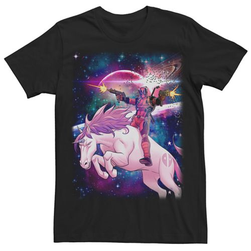 Men's Marvel Comics Deadpool Space Unicorn Tee