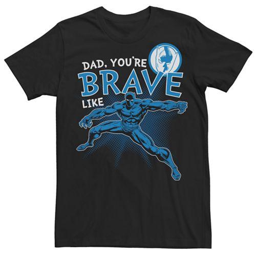Men's Marvel Comics Black Panther Brave Like Dad Tee