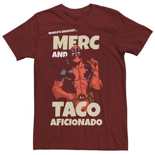 Men's Marvel Comics Deadpool Taco Aficionado Tee