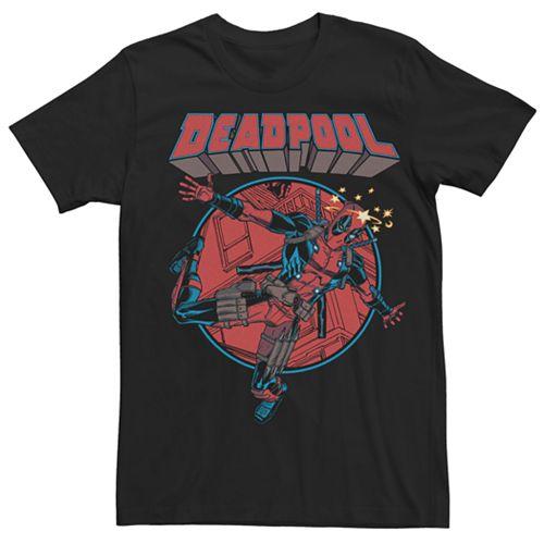 Men's Marvel Comics Deadpool Falling Dummy Tee