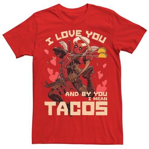 """Men's Marvel Comics Deadpool """"I Love Tacos"""" Tee"""