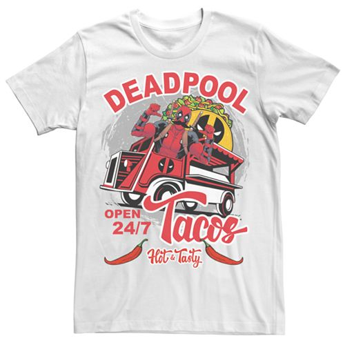 Men's Marvel Comics Deadpool Hot & Tasty Tacos Tee