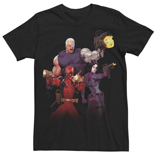 Men's Marvel Cable, Deadpool & Domino X-Force Graphic Tee