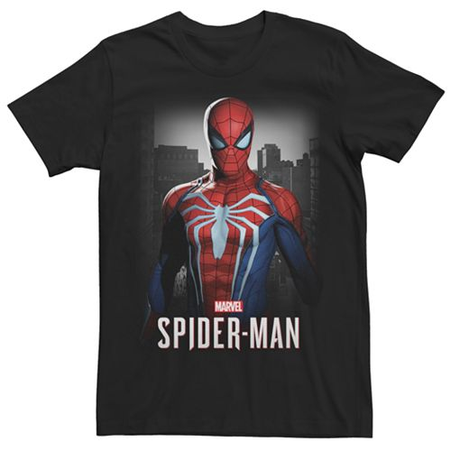 Men's Marvel Spider-Man White Spider Graphic Tee