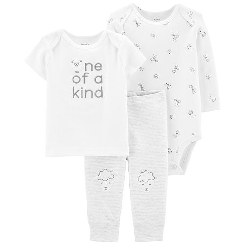 "Baby Carter's 3 Piece ""One of a Kind"" Sheep Tee, Bodysuit & Pants Set"