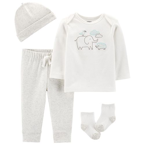 Baby Carter's 4-Piece Embroidered Animal Set