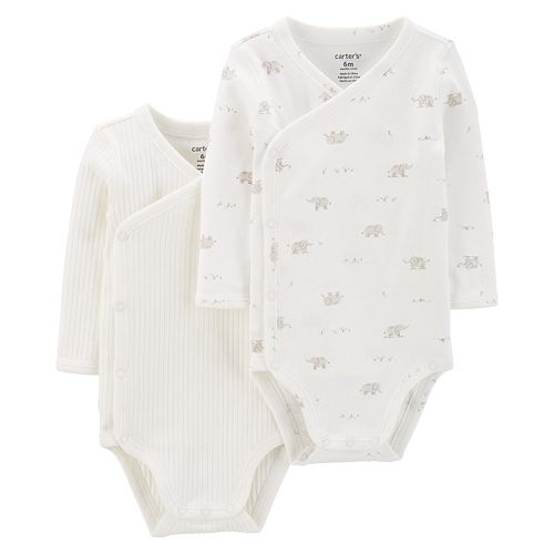 Baby Carter's 2-Pack Side-Snap Bodysuits