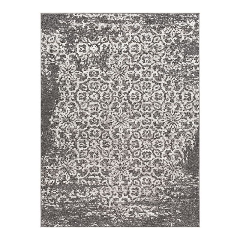 Decor 140 Marseille Distressed Trellis Rug, Grey, 6.5X9 Ft