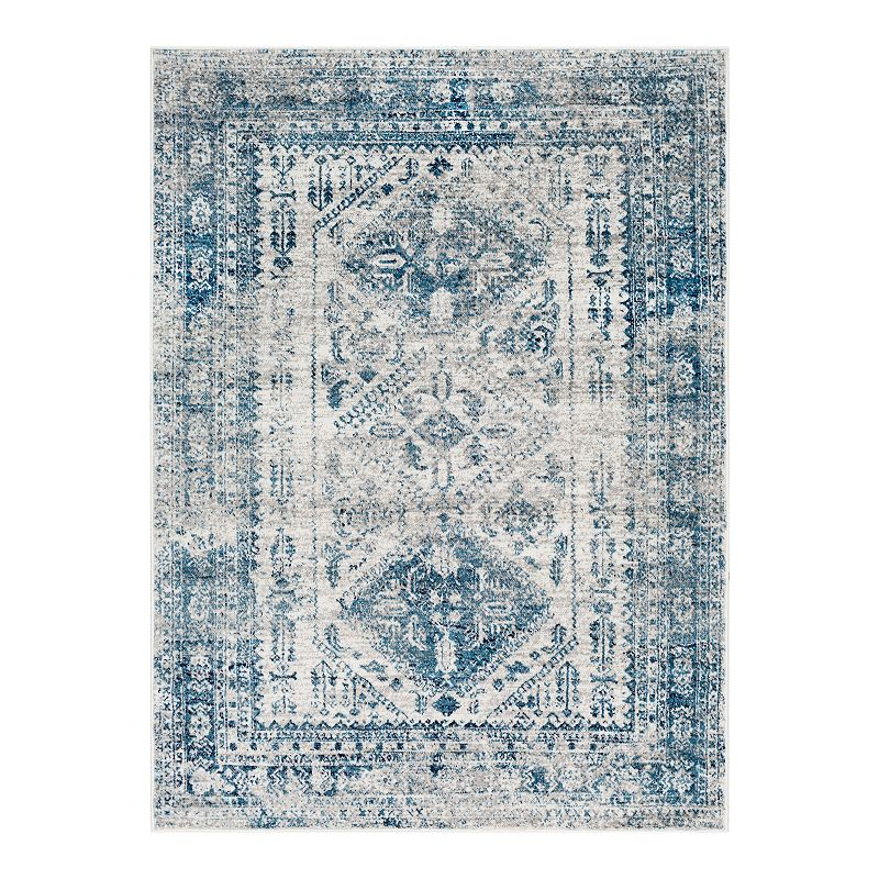 Decor 140 Marseille Distressed Rug, Blue, 8X10 Ft