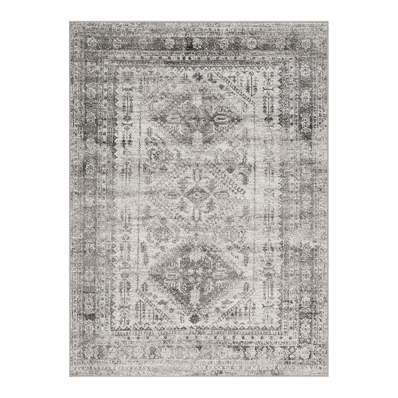 Decor 140 Marseille Distressed Traditional Rug, Grey, 6.5X9 Ft