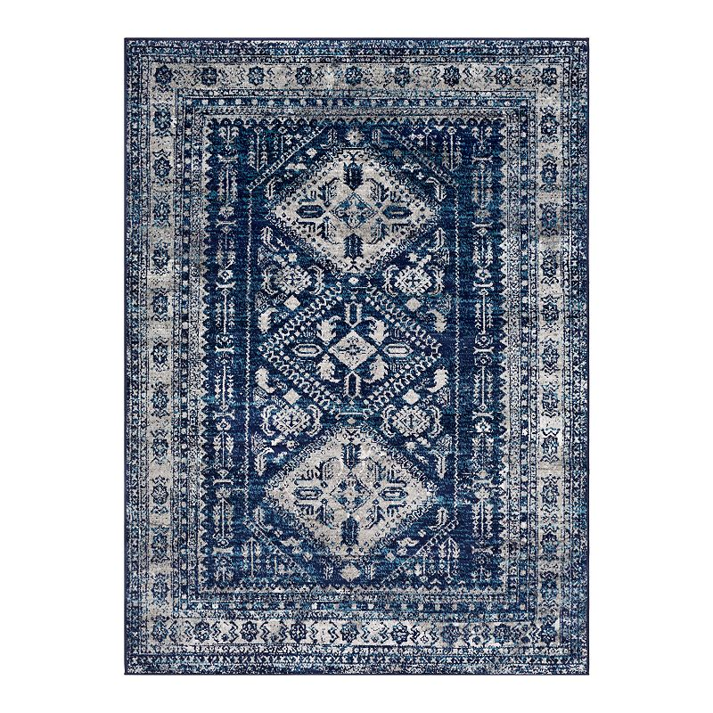 Decor 140 Marseille Updated Traditional Rug, Blue, 6.5X9 Ft