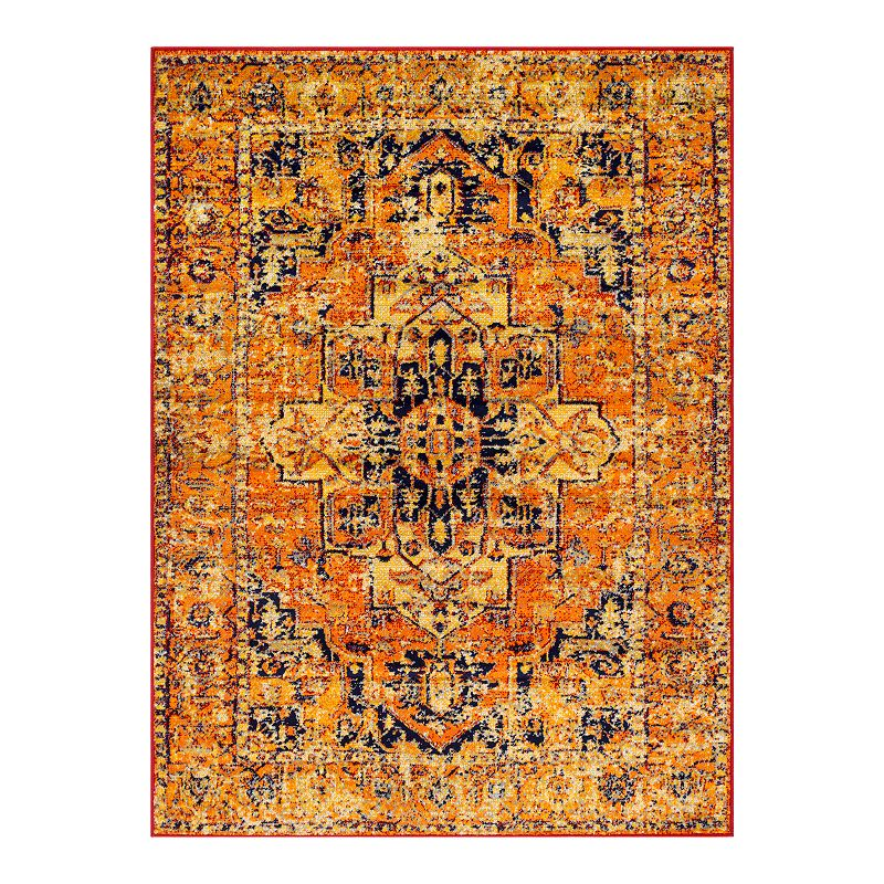 Decor 140 Marseille Updated Traditional Rug, Orange, 8X10 Ft