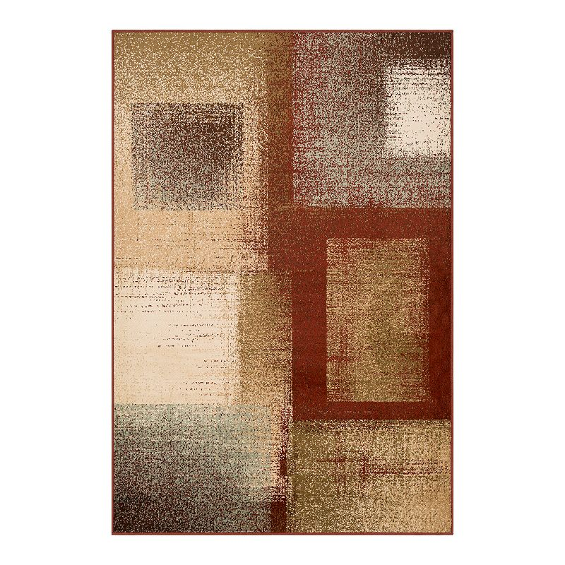 Decor 140 Primordial Modern Rug, Red, 5X7.5 Ft