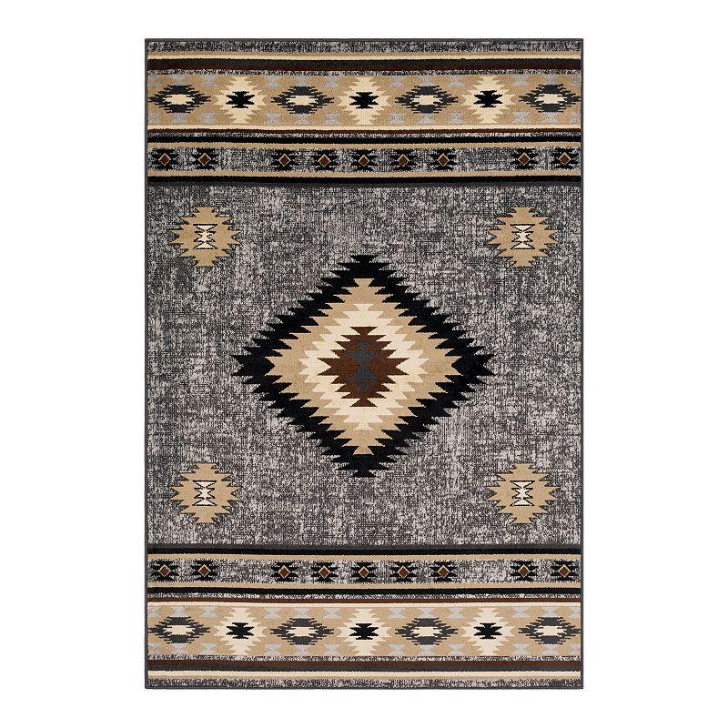 Decor 140 Primordial Bohemian Rug, Grey, 8X11 Ft