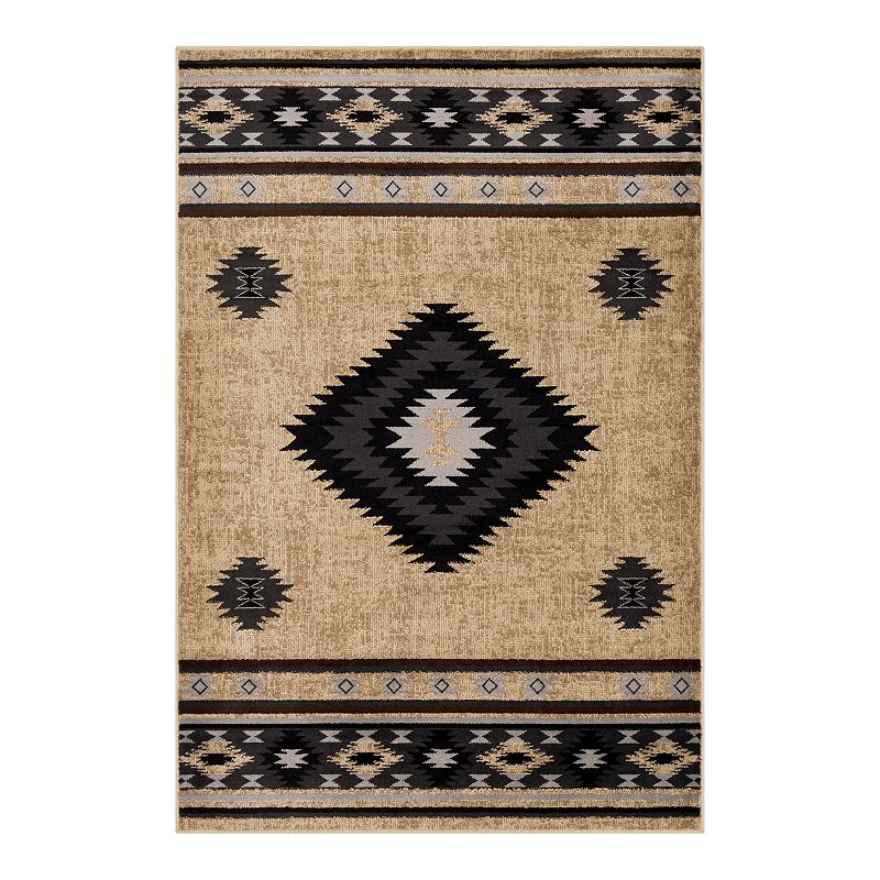 Decor 140 Primordial Bohemian Rug, Brown, 2X3 Ft