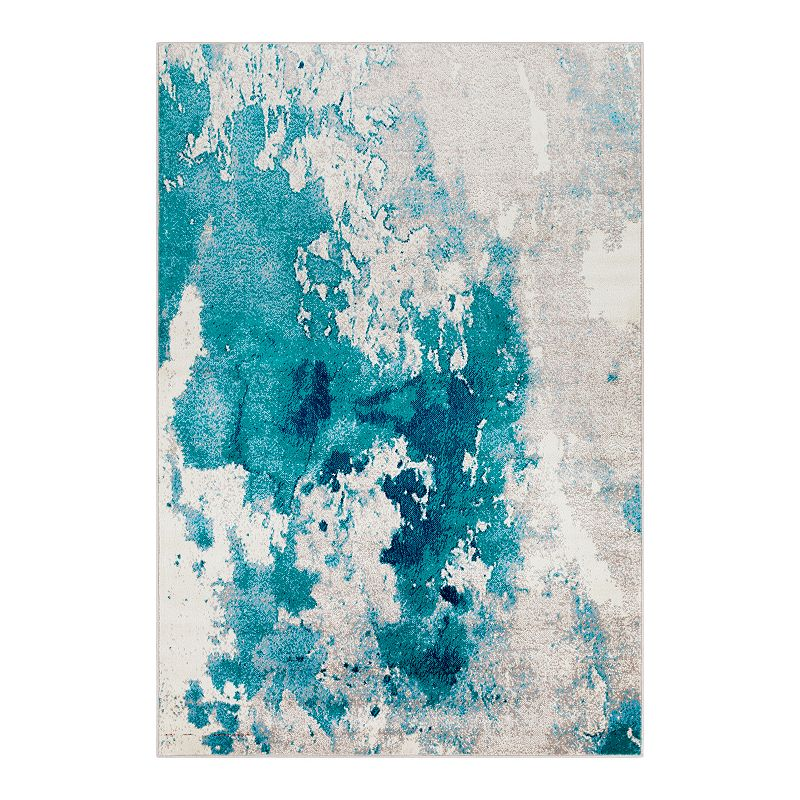Decor 140 Primordial Abstract Rug, Blue, 6.5X9.5 Ft