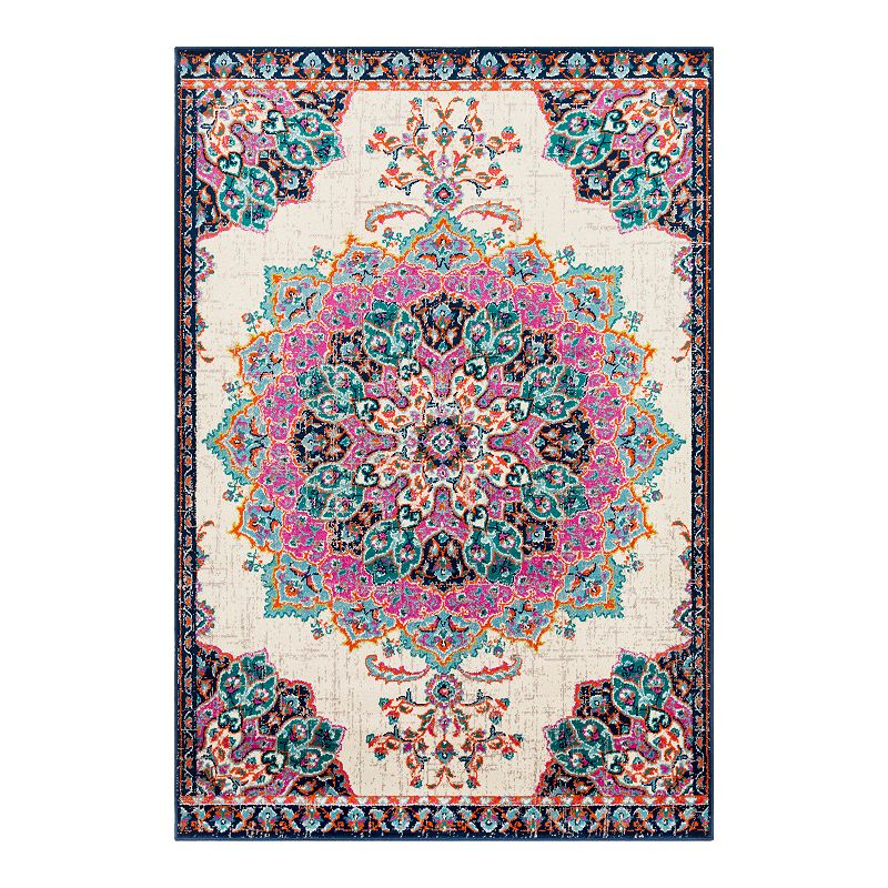 Decor 140 Primordial Medallion Rug, Pink, 6.5X9.5 Ft