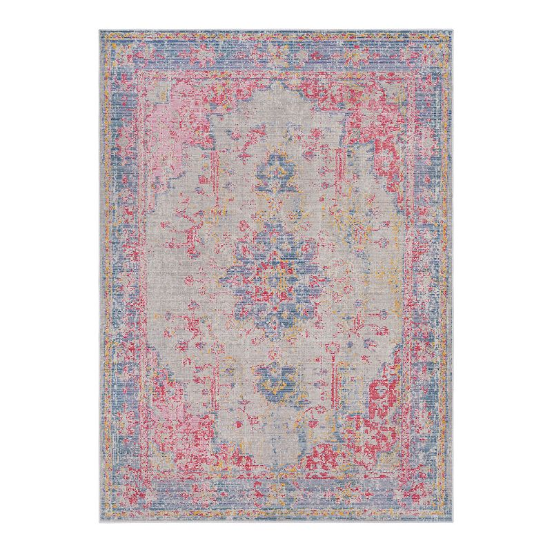 Decor 140 Kreios Distressed Medallion Rug, Purple, 5X7 Ft