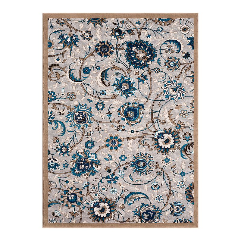 Decor 140 Lambert Floral Rug, Grey, 2X3 Ft