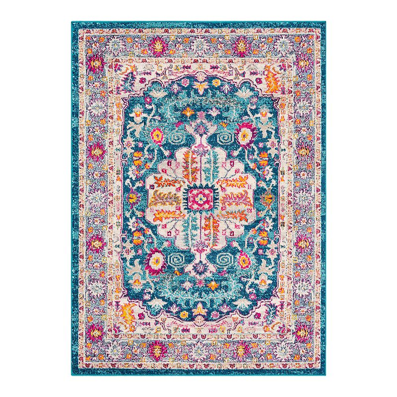 Decor 140 Vallauris Updated Traditional Rug, Blue, 5X7 Ft