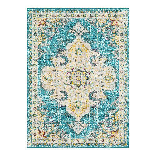 Decor 140 Vallauris Distressed Medallion Rug
