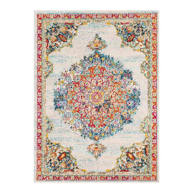 Decor 140 Vallauris Updated Traditional Rug, Beig/Green, 8X10 Ft