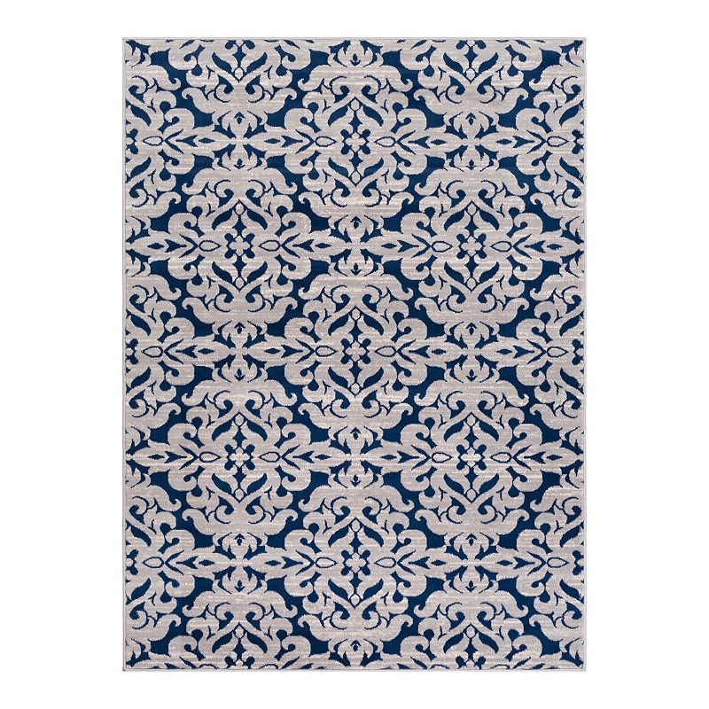 Decor 140 Lambert Trellis Rug, Blue, 8X10 Ft