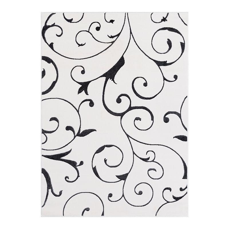 Decor 140 Thalia Scroll Rug, White, 8X10 Ft