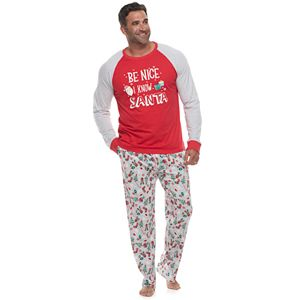Big & Tall Jammies For Your Families Fun Santa Top & Bottoms Pajama Set by Cuddl Duds