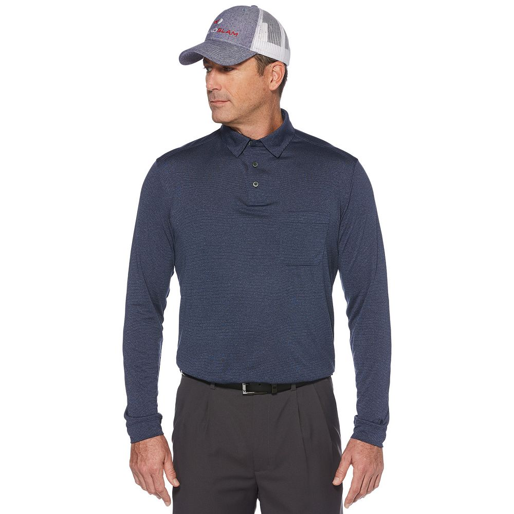 Big & Tall Grand Slam Classic-Fit Pocket Performance Golf Polo