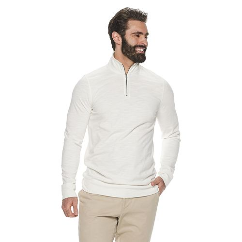 Big & Tall SONOMA Goods for Life™ Classic-Fit Slubbed Quarter-Zip Pullover