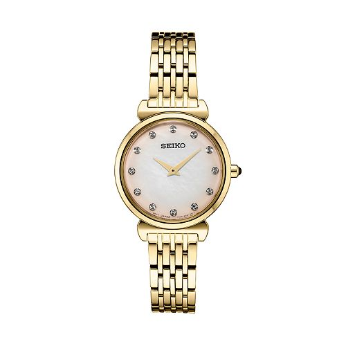 Seiko Women's Crystal Accent Stainless Steel Watch - SFQ802