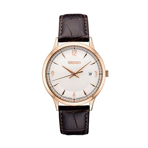 Seiko Men's Essential Leather Watch - SGEH88