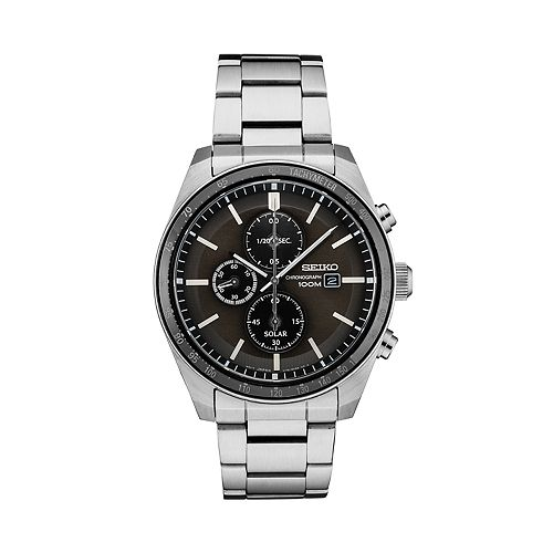 Seiko Men's Essential Stainless Steel Solar Chronograph Watch   Ssc715 by Seiko