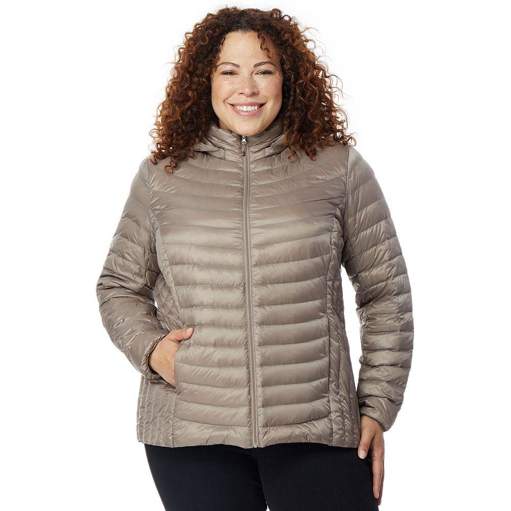 Plus Size HeatKeep Silk Nano Packable Down Jacket