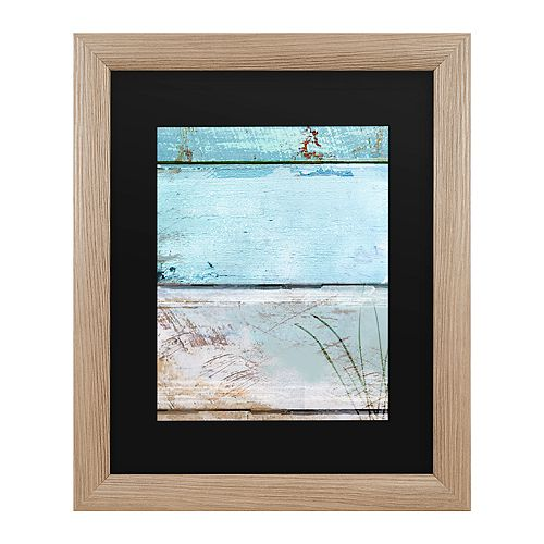 Trademark Fine Art Beach Moonrise I Framed Art