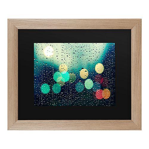 Trademark Fine Art Rainy City Framed Art