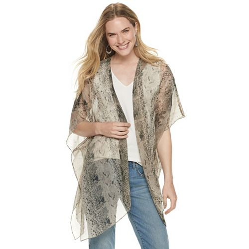 Women's Python Single Layer Cover Up