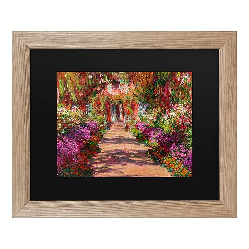 Trademark Fine Art A Pathway In Monet's Garden Framed Art