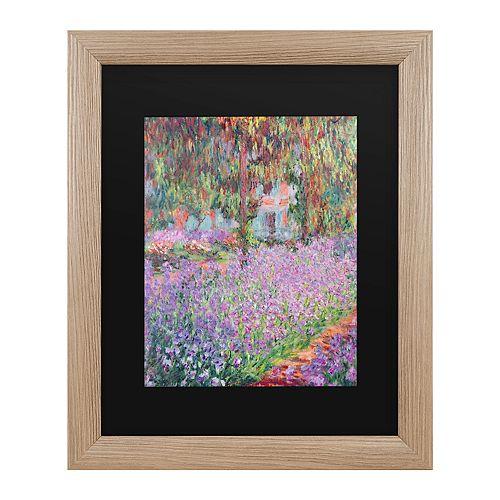 Trademark Fine Art Artists Garden At Giverny Framed Art