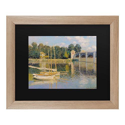 Trademark Fine Art The Bridge At Argenteuil Framed Art