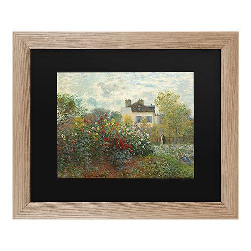 Trademark Fine Art The Artists Garden In Argenteuil Framed Art
