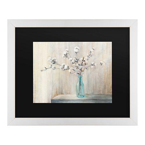 Trademark Fine Art Cotton Bouquet Framed Art