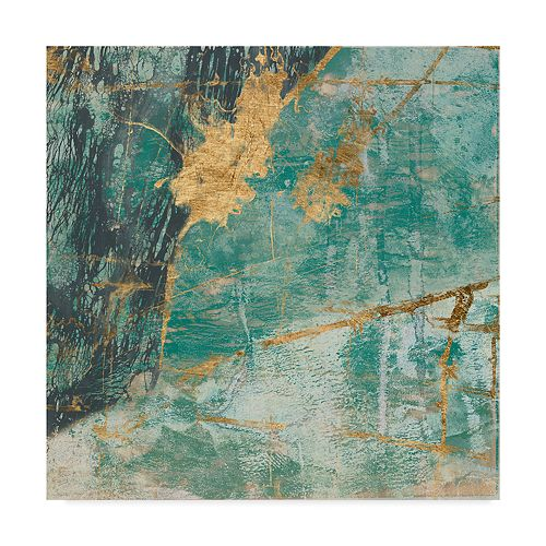 Trademark Fine Teal Lace I Wall Art