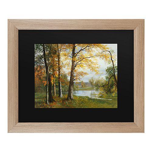 Trademark Fine Art A Quiet Lake Framed Wall Art