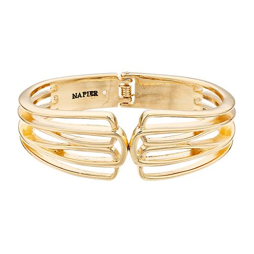Napier Open Cuff Gold Bracelet