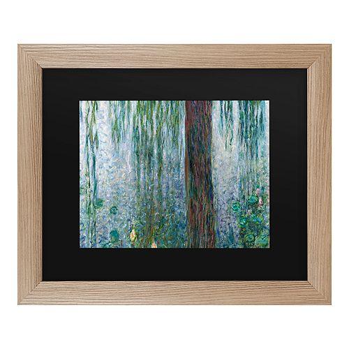 Trademark Fine Art Waterlillies Morning Framed Wall Art