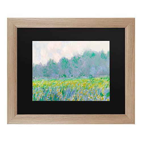 Trademark Fine Art Field Of Yellow Irises At Giverny Wall Art