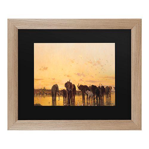 Trademark Fine Art African Elephants Framed Wall Art